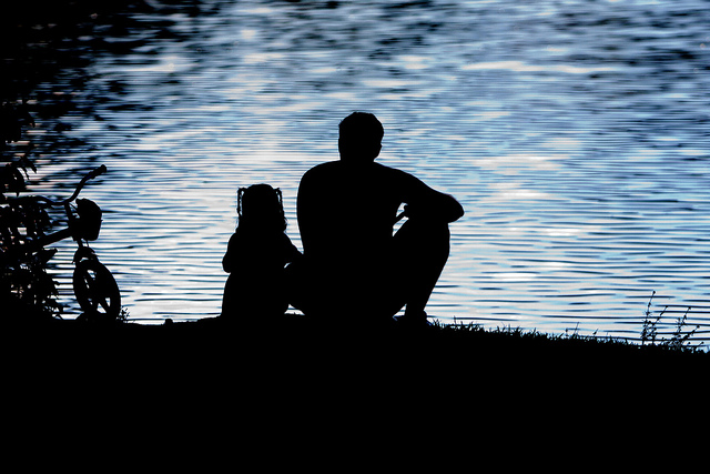 8-silhouette-father-daughter-hd-wallpaper